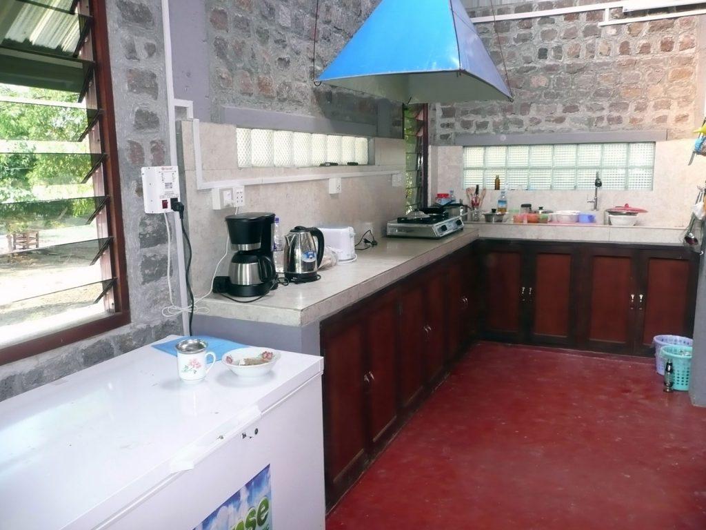 In der neuen Küche ...