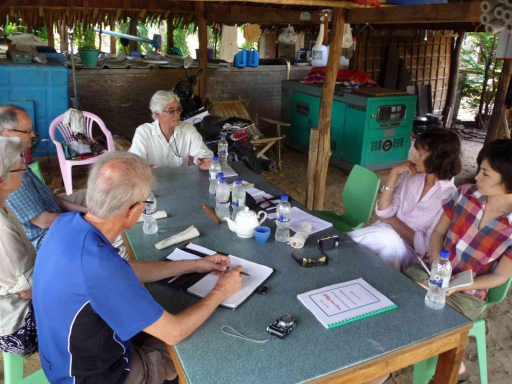 mit unseren Freunden, Margit & Jürgen Pumplün aus der Schweiz gab es viel zu besprechen