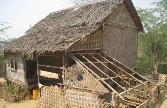 Die Bausubstanz dieser Hütte war noch relativ gut...