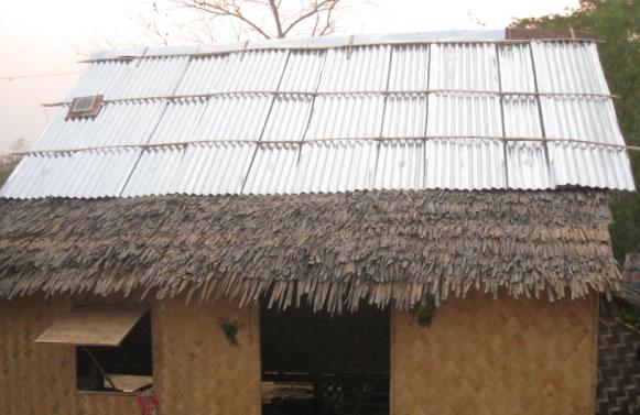 ...durch die Reparatur regnet es nicht mehr durch das Dach