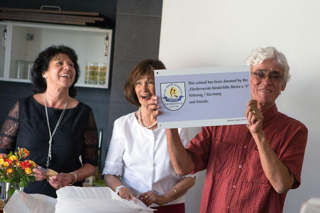 Von links: Martha Schreck, Beda Elsässer, Eric Trutwein