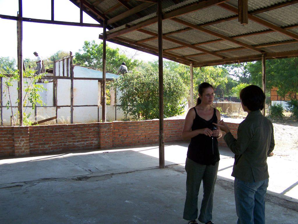 Zoe erklärte uns die weiter geplante Entwicklung