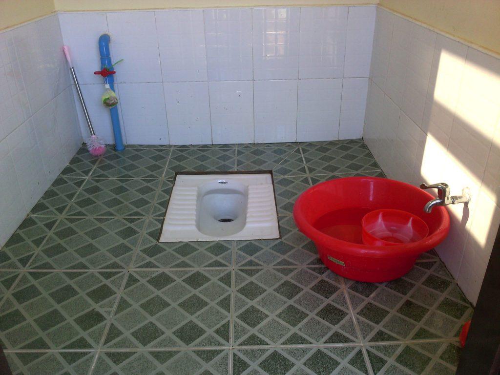 Toilette landesüblich