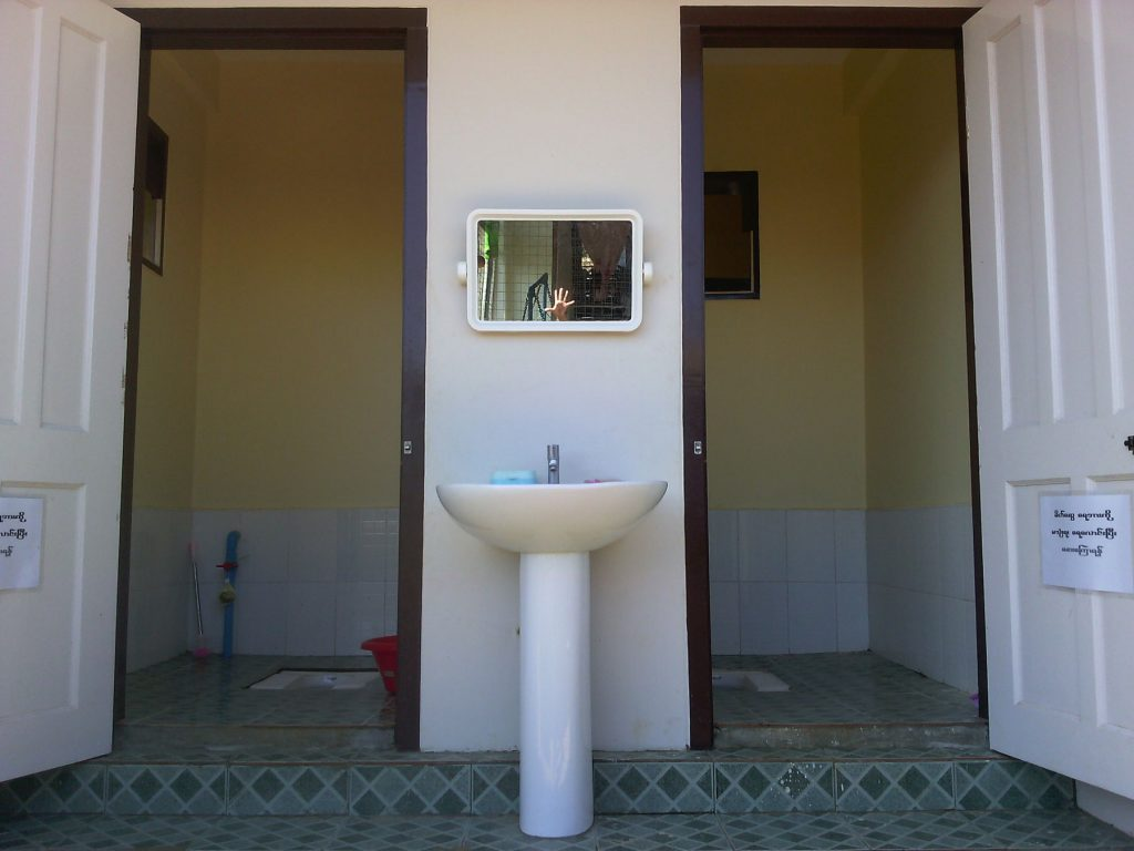 Toiletten-Eingang