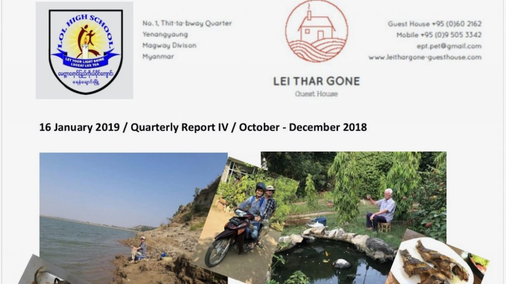 Quartalsberichte 2018 Projekt Yenangyaung