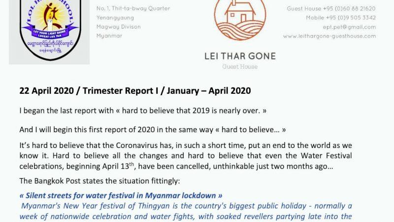 Trimester Report I 2020