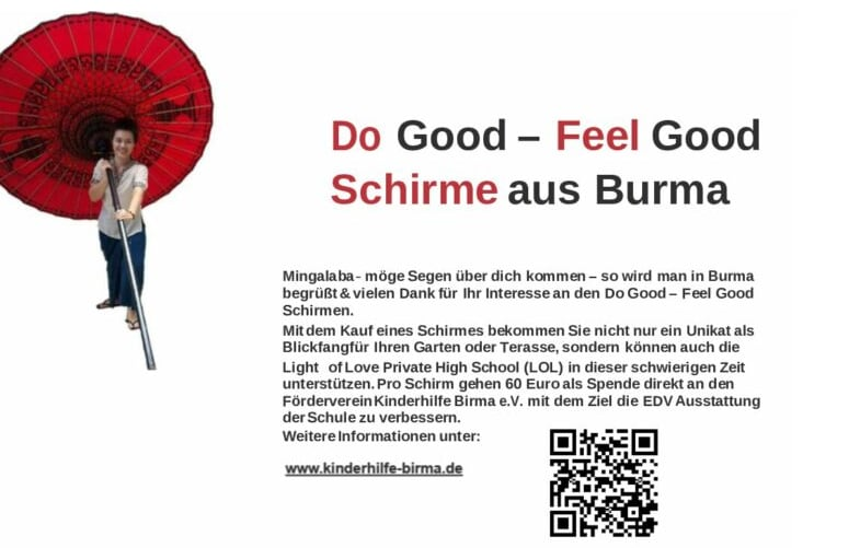 Do Good - Feel Good Schirme aus Burma